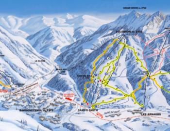 Bardonecchia- trasy narty snowboard